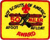 50-miler award patch