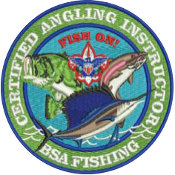 certified angling instructor patch