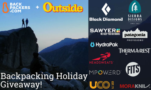 Backpacking Holiday Giveaway