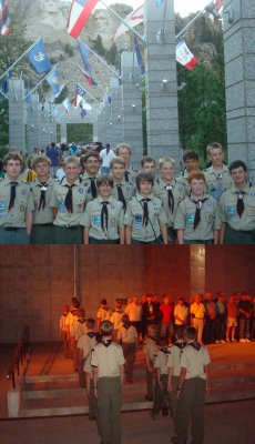 Mt. Rushmore Flags Boy Scouts