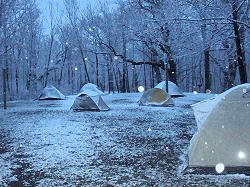 Day 69:  Snow Camping