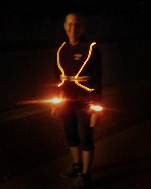 LED running vest