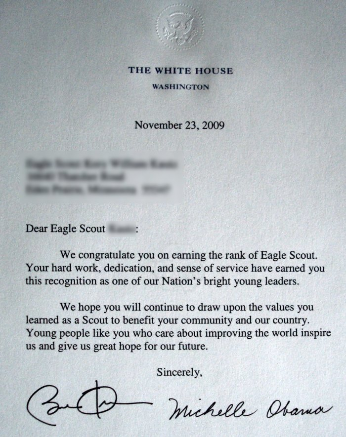 Eagle Scout Congratulatory Letter Request Template