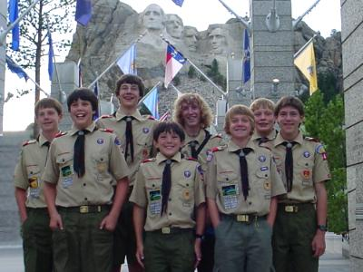 Boy Scouts at Mount Rushmore