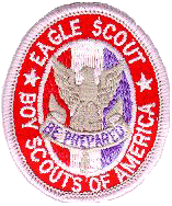 adca8e95f188 Eagle Scout Award. Description  Red white blue on red white blue knot on  tan background with tan border.