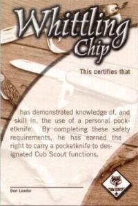 photograph about Whittling Chip Card Printable referred to as Whittling Chip Award
