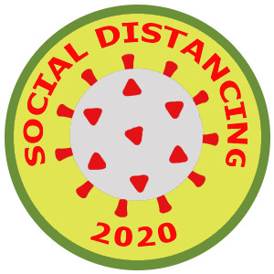 Social Distancing spoof merit badge Patch