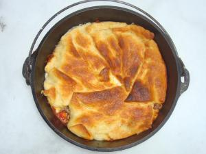 dutch oven pizza casserole